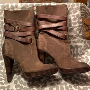 Frye Harlow Multi Strap Boots- suede and leather